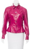 Valentino Ruched Leather Jacket