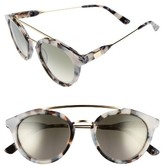 Westward Leaning Women's Double Bridge 51Mm Sunglasses - Snow Leopard/ Sage Ombre