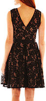 JCPenney DJ Jaz Ribbon-Waist Lace Dress