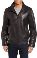 Vince Camuto Men's Leather Bomber Jacket