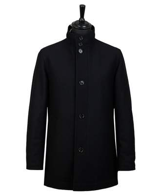BOSS Camron Wool Funnel Neck Car Coat Colour: BLACK, Size: 38