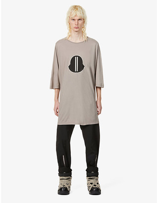 Rick Owens Moncler + graphic-print cotton-jersey T-shirt