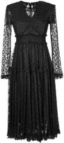 G.V.G.V. foiled lace frilled dress