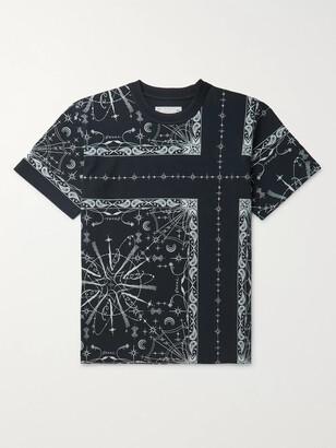 Sacai + Dr. Woo Bandana-Print Cotton-Jersey T-Shirt