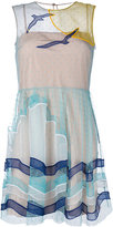 RED Valentino seaside pattern dress - women - Silk/Polyamide - 40