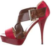 Oscar de la Renta Crossover Platform Sandals