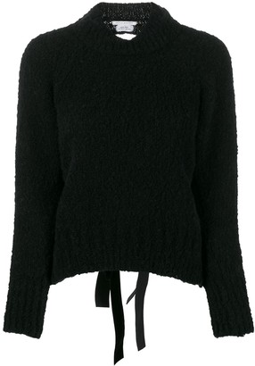 Cecilie Bahnsen open back knitted jumper