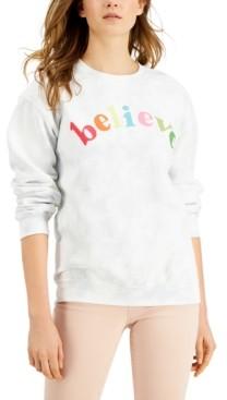 Junk Food Clothing Believe Cotton Tie-Dye Sweatshirt