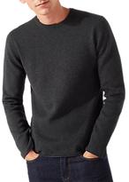 Jigsaw Cotton Cashmere Jumper, Grey