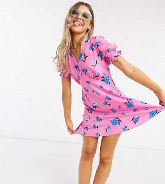 Wednesday's Girl mini tea dress in pretty floral