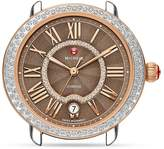 Michele Serein 16 Two-Tone Diamond Cocoa Dial Watch Head, 34 x 36mm