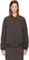 Acne Studios Brown Leia Bomber Jacket