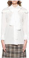 Gucci White Ruches Shirt