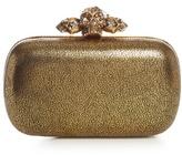 Alexander McQueen Piercing Skull leather box clutch