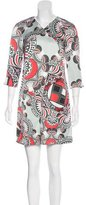 Versace Silk Abstract Print Dress