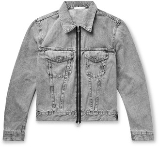 Helmut Lang Cropped Stonewashed Denim Trucker Jacket - Men