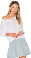 BCBGeneration Laced Sweater in White