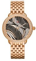 Michele Serein 16 Willow Diamond & 18K Rose Gold Bracelet Watch