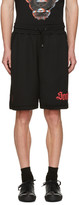 Marcelo Burlon County of Milan Black Santos Shorts