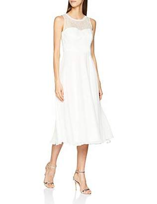 Vera Mont VM Women's 0203/3030 Dress, (Ivory White 40), (Size: 36)