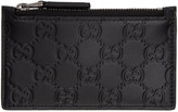 Gucci Black GG Avel Zip Card Holder