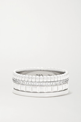 Boucheron Quatre Radiant Edition Small 18-karat White Gold Diamond Ring - 54