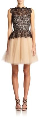 Nha Khanh Karla Organic Lace & Tulle Peplum Dress