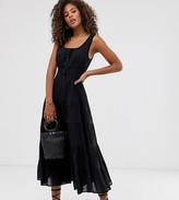Y.A.S Tall elasticated waist button through midi dress