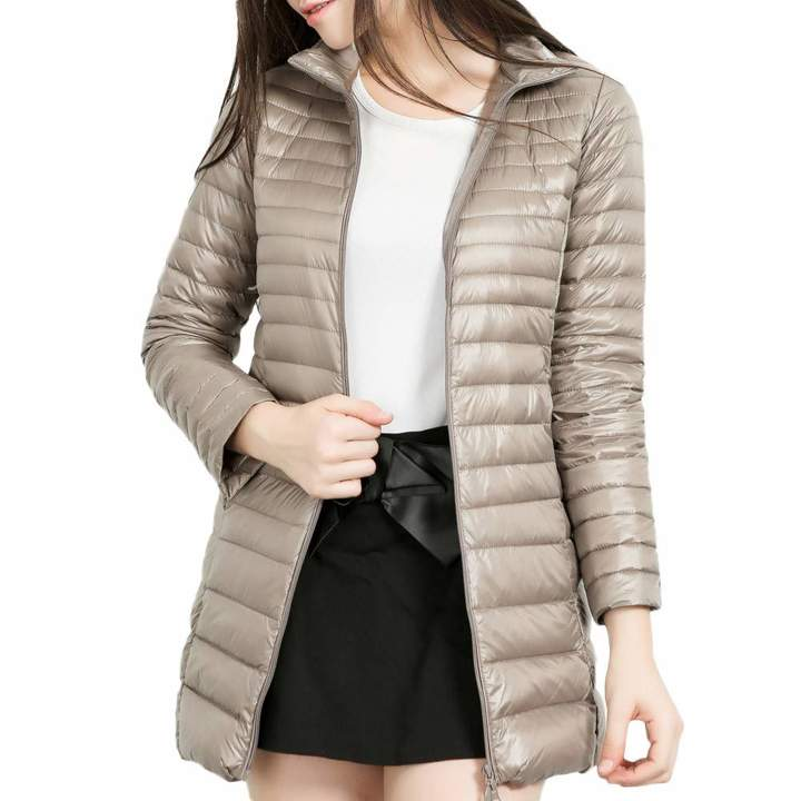 OldSch001 Unisex Hooded Outwear Warm Thick Parka Cotton-Padded Jacket Long Overcoat for Women Men