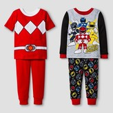 Power Rangers Toddler Boys' 4-Piece Pajama Set - Red
