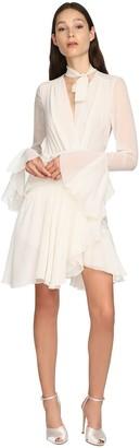 Giambattista Valli Draped Silk Georgette Mini Dress