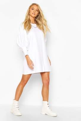 boohoo Extreme Puff Sleeve 3/4 Sleeve Sweatshirt Dress