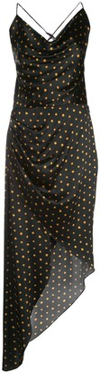 HANEY Holly polka dot pattern dress