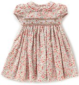 Edgehill Collection Baby Girls 3-24 Months Floral Smocked Short-Sleeve Dress