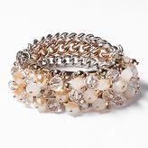 Vera Wang Simply vera two tone bead multistrand stretch bracelet