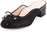 Taryn Rose Faigel Sequin-Embellished Mule, Black