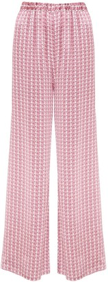 Phoebe Grace Peggy Palazzo Trouser In Small White Flower