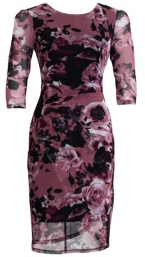 Connected Side-Ruched Sheath Dress
