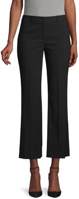 Michael Kors Cropped Flared Fleece Wool Pants