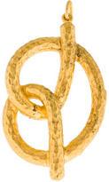 Yossi Harari Vermeil Hammered Pretzel Pendant