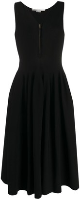 Stella McCartney Front-Zip Flared Dress