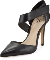 Vince Camuto Carlotte Pointed-Toe Leather Pump, Black