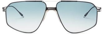 Jagger Jacques Marie Mage Aviator Titanium Sunglasses - Womens - Blue Silver