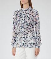 Reiss Louisa - Printed Shirt in Pink, Womens