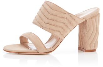 Marion Parke Lizzie Quilted Suede Slide Sandals