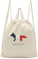 Maison Kitsune Off-White Tricolor Fox Tote Backpack