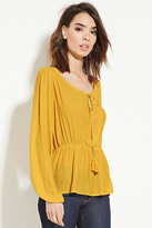 Forever 21 FOREVER 21+ Contemporary Peasant Top