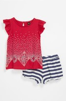 Tea Collection 'Litema' Top & Shorts (Baby) Camille Pink 0-3M