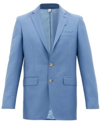 Burberry English Fit Mohair-blend Suit Jacket - Mens - Blue