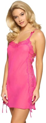 Jezebel Women's Laura Chiffon and Lace Chemise Sleepwear